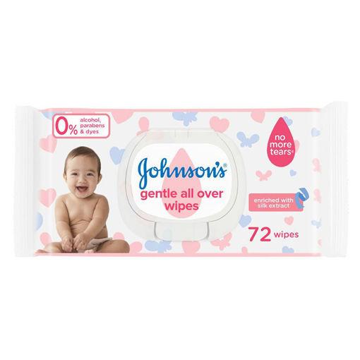 Picture of مناديل مبللة جونسون لتنظيف لطيف كامل بشرة الطفل - 72 قطعة