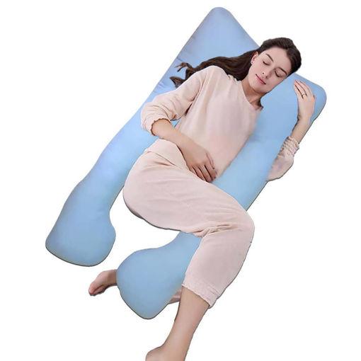 Picture of مخدة الحمل لدعم جسم الحامل أثناء النوم - لبني