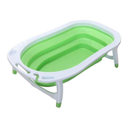 Picture of حوض استحمام سيليكون قابل للطي للأطفال - أخضر