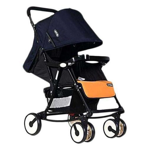 Picture of عربة أطفال وكرسي هزاز 2×1 سترولر Q4 من سي بيبي - كحلي×أورانج